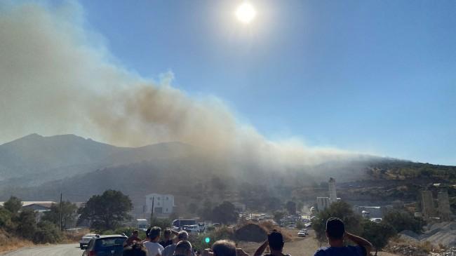 Datça'da orman yangını çıktı